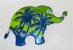 Recycled Soda Can Art Tropical Tea  Elephant by apmemory on Etsy, $3.75