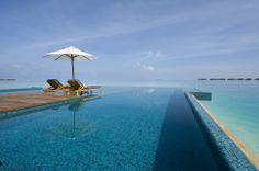 The Infinity Edge pool at Conrad Maldives Rangali Island