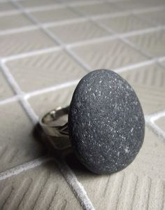 beach stone ring @Kristi Pflugh-Jurgensen...we are definitely going to scour the beaches when we're in California!