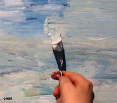 As you use both sides of a butter knife to spread butter on bread, so you use both sides of a painting knife to spread paint on a canvas.