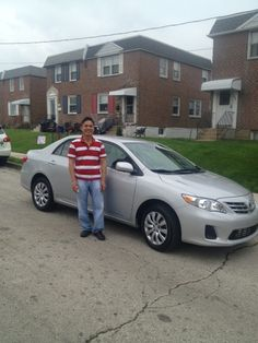 Ardmore Toyota congratulates Thanh on his new 2013 Toyota Corolla on behalf of Salesperson Darnell Sadler.