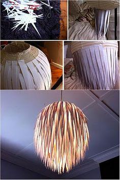 diy lamp...from rice paper lantern