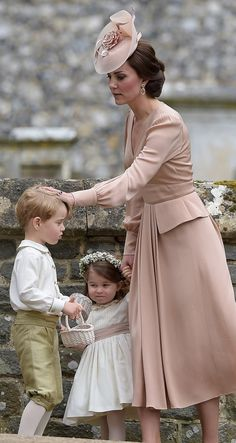 Duchess of Cambridge, Prince George and Princess Charlotte at Pippa Middleton's Wedding 05/20/17 -- George was an usher and Charlotte was a bridesmaid/flower girl