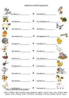 Bauernhoftiere und Adjektive