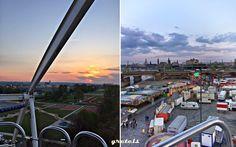 Dresden, Rummel, Vogelwiese, Volksfest, auf dem Riesenrad, Blick von oben
