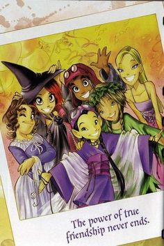 W.I.T.C.H smdh. Was TOTALLY (obsessed even) into the books, when it was on TV...left disappointed and never read them again.