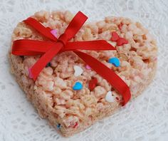 "Rice Krispy ""Love"" Treats - Buttercream Bakehouse"