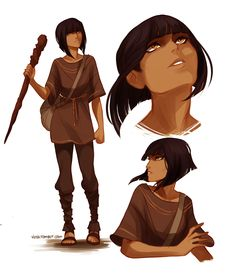 Zia from Rick Riordan's The Kane Chronicles...she looks like the women on the show Legend of Korra on Nick....