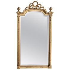 19th Century French Louis XVI Gilded Antique Mirror   See more antique and modern Wall Mirrors at http://www.1stdibs.com/furniture/mirrors/wall-mirrors