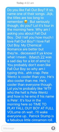 It's four am. And I sent this to my fren. Lol <<< THIS sounds like someth bag I would totally do