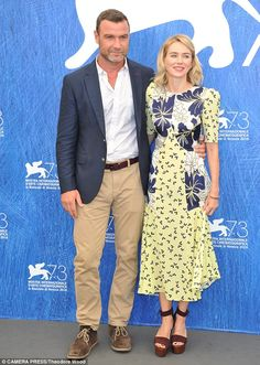 Noami Watts and partner Liev Schreiber promote The Bleeder at Venice Film Festival   Daily Mail Online