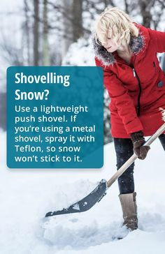 ❄️ ⛄️ Use a lightweight push shovel. If you're using a metal shovel, spray it with Teflon, so snow won't stick to it. Shoveling Snow, Chiropractic Wellness, Spinal Cord, Health Problems, Nervous System, Love You, Metal, Te Amo, Je T'aime
