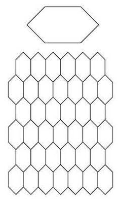 English Paper Piecing Hexagons Pattern...free download