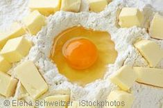 German Shortcrust Pastry Recipe (Mürbeteig) for fruit tarts (Obstkuchen), cakes and cookies