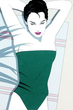 Sunbather by Patrick Nagel 1980's #art