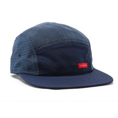 The perfect lightweight, packable, camp hat. A 5 panel cap with adjustable webbing buckle closure. Made in Colorado, USA. Five Panel Hat, Dad Hats, Hats For Men, Mens Fashion, Navy, Grid, Colorado Usa, Closure, Beanies
