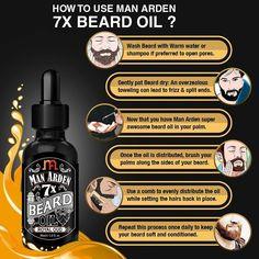 Man Arden 7X Beard Oil 30ml (Royal Oud) – 7 Premium Oils Blend For Beard Growth & Nourishment.