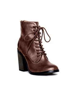 Erin Lace Up Booties