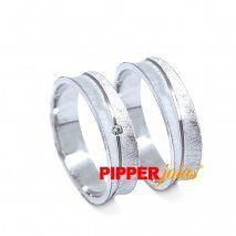 Alianças de compromisso em prata - alm840
