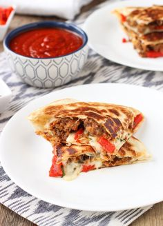 Italian Sausage Quesadillas are loaded with hot Italian sausage, mozzarella cheese, fresh basil, and more. 30 minutes from start to finish!