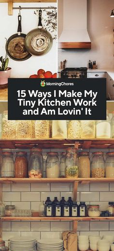 15 Ways I Make My Tiny Kitchen Work and Am Lovin' It Having a tiny kitchen is not all that bad, you just need smart planning to make it work. We provide 15 practical ways in which to make a small kitchen work. Kitchen Furniture, Kitchen Decor, Kitchen Design, Kitchen Ideas, Dark Wood Cabinets, Small Kitchen Layouts, Food Storage Boxes, Apartment Kitchen, Open Kitchen