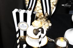 Fabulous and Classy Coco Chanel Party elegant cupcake