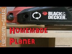 Como convertir el cepillo eléctrico en cepillo de mesa. Make a jointer with an electric hand planer - YouTube