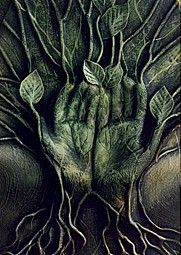 Earth Shrines: green hands