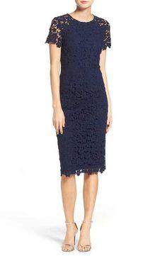 Shoshanna Beaux Lace Midi Dress