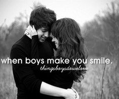 When boys make you smile.
