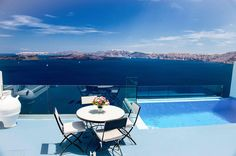 Private terrace with amazing views