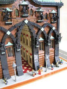 entry the entry Amazing Lego Creations, Lego Pictures, Lego Construction, All Lego, Lego Modular, Lego Design, Lego Worlds, Lego Architecture, Custom Lego