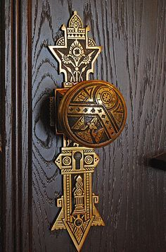 Ornate door knob in Milwaukee, WI