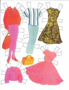 "Patty Duke [& Cathy] Paper Dolls: inspired by the ""Patty Duke TV Show"" (5 of 7), 1964 Whitman #1991"