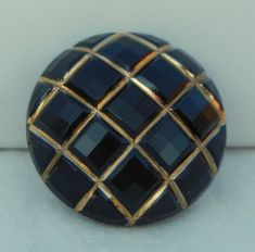 Domed Squares Czech Glass Button by MostlyButtons on Etsy, $5.00