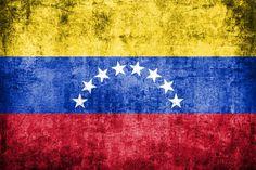 venezuela flag painted on grunge wall