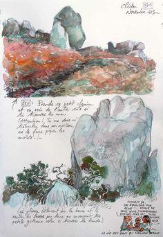 Cool Landscapes, Sketchers, Illustrations, Blog, Sketchbooks, Watercolor, Drawings, Contours, Journaling