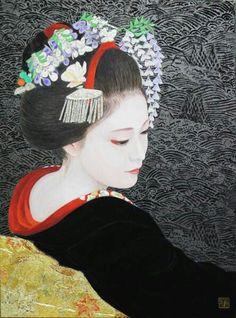 A little bit of Japan Japanese Drawings, Japanese Artwork, Japanese Painting, Japanese Prints, Geisha Kunst, Geisha Art, Japan Illustration, Japanese Geisha, Japanese Beauty