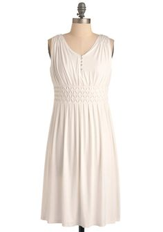One Tuesday Dress from Modcloth. This would be a good base dress if I wasn't terrified of wearing white dresses because of Supernatural.
