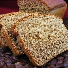 Maple Whole Wheat Bread Recipe Vegan Whole Wheat Bread Recipe, Whole Grain Bread, Bread Machine Recipes, Bread Machines, No Rise Bread, Healthy Bread Recipes, Cooking Bread, Dry Yeast, Sweet Bread