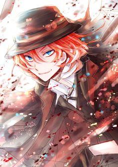 Bright red hair + crystal blue eyes