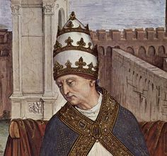 Pinturicchio, The Canonization of Catherine of Siena by Pope Pius II (detail), fresco in the Piccolomini Library, Duomo, Siena  One of the many frescoes of Pius II located in the 'Piccolomini library' in the Duomo in Siena.