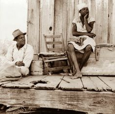 Today's picture shows a Sharecropper Couple from Mississippi. The picture was taken in 1937.