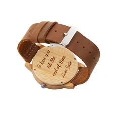 Wooden Watch Mens Watch Engraved Wood Watch Personalized