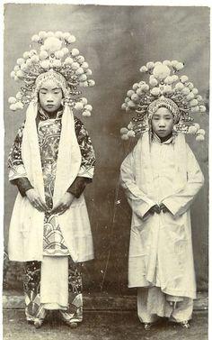 Chine, Beijing Opera Vintage print, 1890