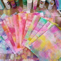 brayered backgrounds Art Journal Backgrounds, Art Journal Pages, Art Journaling, Mixed Media Journal, Mixed Media Art, Mix Media, Art Journal Tutorial, Art Journal Techniques, Plate Art