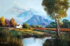 Landscape by Michael Jnr Albertyn Oil Paintings, Landscape Paintings, South African Artists, Cool Landscapes, Donkeys, Serendipity, Flower Art, Illusions, Paintings