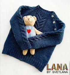 Купить Свитер для малыша - свитер, свитер вязаный, свитер для девочки, свитер для мальчика, свитер с косами