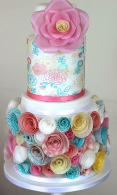 www.cakecoachonline.com - sharing...			 wafer paper cake