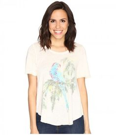 Lucky Brand - Parrot Branch Tee (Jet Stream) Women's T Shirt